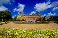 Waddesdon manor country house buckinghamshire uk built on a hill overlooking the village in england built by the rothschilds in Stock Image