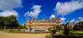 Waddesdon manor country house buckinghamshire uk built on a hill overlooking the village in england built by the rothschilds in Stock Photos
