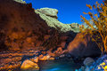 Wadi hasa night landscape scenic desert creek Stock Image