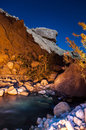 Wadi hasa night landscape scenic desert creek Royalty Free Stock Image