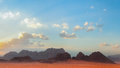 Wadi rum desert jordan a sandstone valley in southern filming location of lawrence of arabia red planet and transformers Stock Images