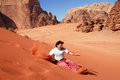 Wadi Rum in the Hashemite Kingdom of Jordan Royalty Free Stock Images