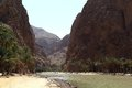 Wadi shab oman the magnificent valley located near the coast of Stock Photos
