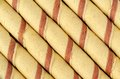 Wafer roll background a close up of rolls as a Royalty Free Stock Photo