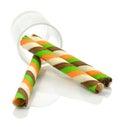 Wafer roll sticks Royalty Free Stock Photo