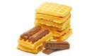 Wafers and chocolate Royalty Free Stock Photo