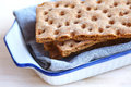 Wafers of swedish rye crisp bread Royalty Free Stock Images