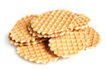 Wafers on a white background Stock Image