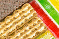 Waffle and jelly background (diagonal) Stock Photos