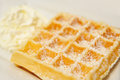 Waffle plain on white background Royalty Free Stock Photography