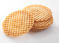 Waffle wafer biscuits for garnishing Stock Photo
