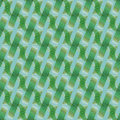 Waffle-weave pattern with wavy lines green brown khaki white aquamarine diagonally