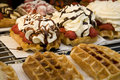 Waffles from Brussels Stock Photography