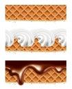 Waffles chocolate whipped cream
