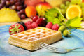 Waffles & Fruits Royalty Free Stock Photography