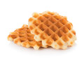 Waffles isolated on white background Royalty Free Stock Photo