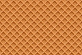 Waffles, seamless texture vector background Royalty Free Stock Photo