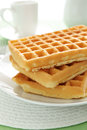 Waffles stack of plain with no butter or syrup Stock Images