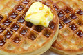Waffles and Syrup Closeup Royalty Free Stock Photo