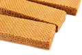 Waffles wafers on a white background close up Stock Photos