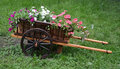 Waggon with flowers Royalty Free Stock Photo