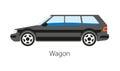 Wagon Car Isolated On White Ba...