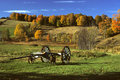 Wagon in Field Stock Image