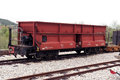 Wagon red train red color train cargo Royalty Free Stock Photography