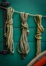 Wagon Ropes Royalty Free Stock Photo
