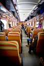 In wagon train inside of carriage passenger cfr romanian railway transport Stock Images
