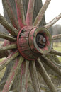 Wagon wheel conestoga covered in need of repair Royalty Free Stock Photography