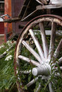 Wagon Wheel and flowers Royalty Free Stock Photo
