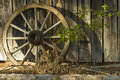 Wagon wheel with shadows Stock Photos