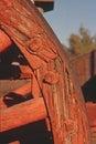 Wagon wheel on twenty mule team in borax mines Stock Images