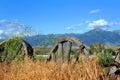Wagon Wheels in Montana Royalty Free Stock Photo
