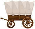 Wagon with wooden wheels Royalty Free Stock Photo