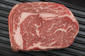 Wagyu beef steak in a pan from above Royalty Free Stock Photo