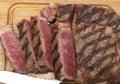 Wagyu steak cut on board Royalty Free Stock Photo