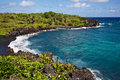 Wai anapanapa state park on maui s road to hana Stock Photos
