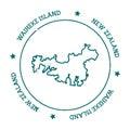 Waiheke Island vector map.