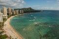 Waikiki Beach Coastline Royalty Free Stock Photo