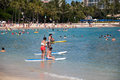 Waikiki Beach - Hawaii Royalty Free Stock Photo