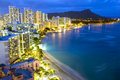 Waikiki  beach in Honolulu, Hawaii. Royalty Free Stock Photo
