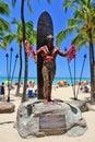 Waikiki Beach, Honolulu, Oahu, Hawaii Royalty Free Stock Photo