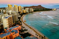 Waikiki Beach Honolulu Royalty Free Stock Photo