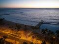 Waikiki beach after sunset honolulu hawaii Royalty Free Stock Photography
