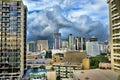 Waikiki hawaii skyline hdr image of Royalty Free Stock Images
