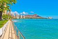 Waikiki shoreline in Honolulu Stock Image