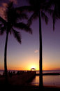 Waikiki Sunset Royalty Free Stock Photo