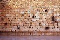 Wailing Wall Empty in Jerusalem Royalty Free Stock Photos